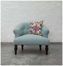 t is summer and an indigo hue is perfect for a home celebrating eco-living this season. Geometrical prints are in vogue, and our favourite this season is this indigo ikat cushion cover