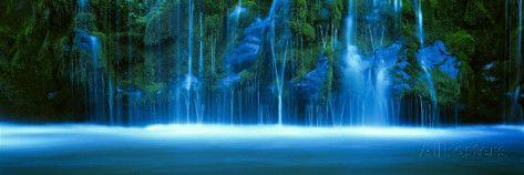 Mossbrae waterval, Sacramento River, Shasta Cascade, Dunsmuir, Californië Fotoprint van Panoramic Images bij AllPosters.nl