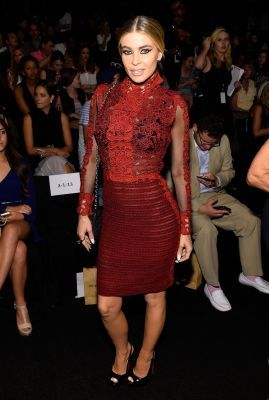 Carmen Electra attends the Vivienne Tam fashion show