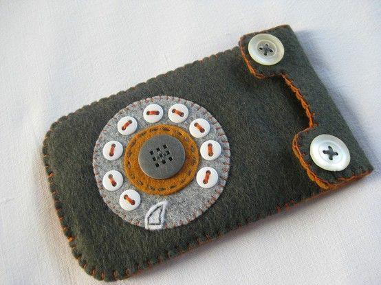 felt phone case by nikkilea