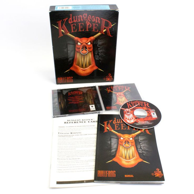 Dungeon Keeper for PC by Bullfrog Productions, 1997, Fantasy, Strategy