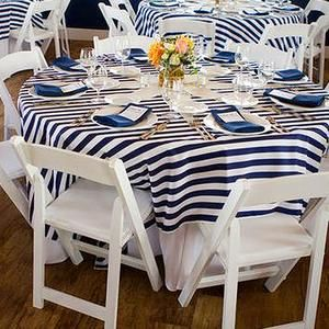 Striped Linens Style Me Pretty