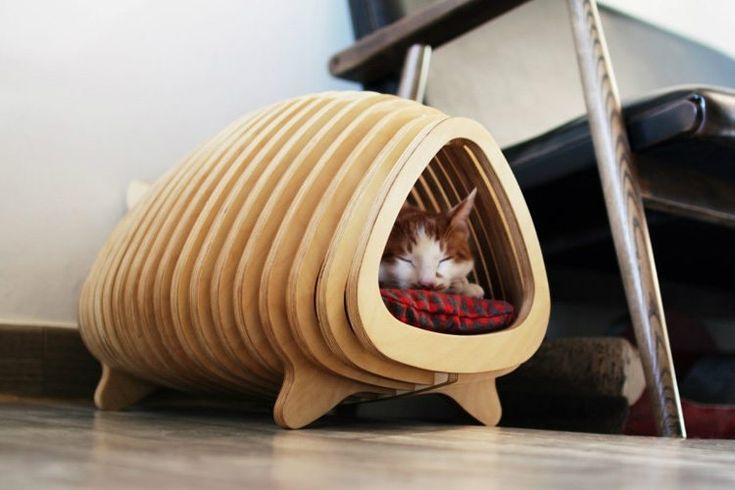 Casa para gatos. Cuando tenemos mascotas en nuestro hogar, especialmente en un departamento, debemos asignarle un espacio propio donde puedan descansar y sentirse seguros. Hoy en día existen entretenidas e innovadoras casitas para ellos. Aquí te dejamos algunas ideas para que puedas implementar.
