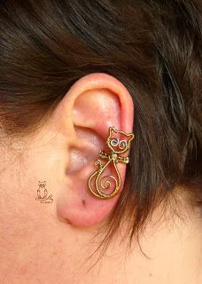 Kricsár - handmade copper jewelry: Cats Ear - cute