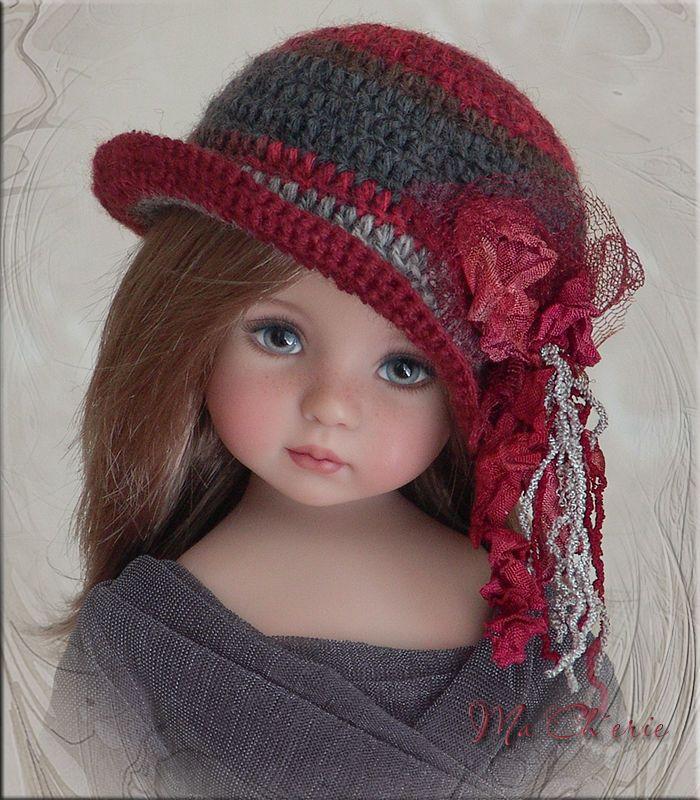 MA CHERIE Hat 4Effner Little Darling, Mini Fe, Ellowyne, Prudence, BJD by Linda