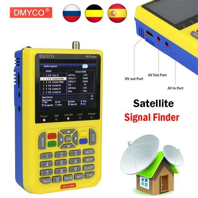 Digital TV SatFinder V8 Finder DVB-S2 FTA Satellite Finder Meter HD MPEG4 MPEG2