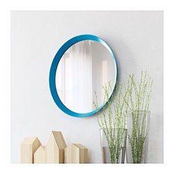 IKEA - LANGESUND, Miroir, bleu, , Miroir avec pellicule anti-éclats au dos.Peut être installé dans toutes les pièces de la maison, dont la salle de bain car testé et approuvé pour cet usage.