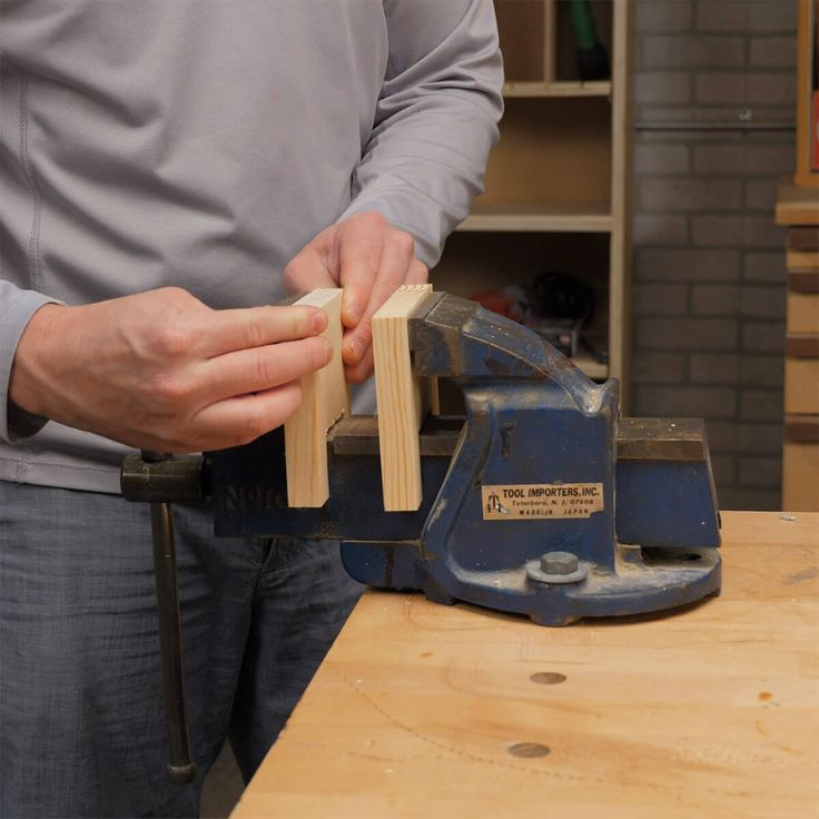 Custom Pads für einen Mechaniker-Schraubstock, #Custom #Holzprojektekinder #Mechanics #Pads #Vise