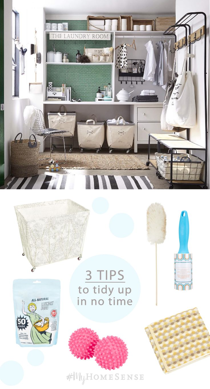 Spring cleaning time is just around the corner. No fear - we have tips galore to get the laundry room, kitchen and bathroom organized and into tip-top shape.