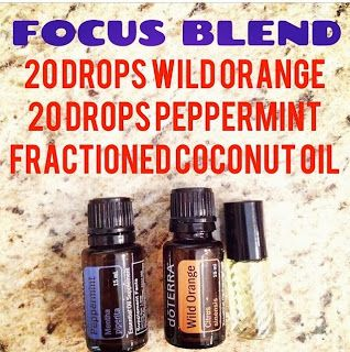 The Essential Oil Mom: Peppermint and Wild Orange Focus Blend