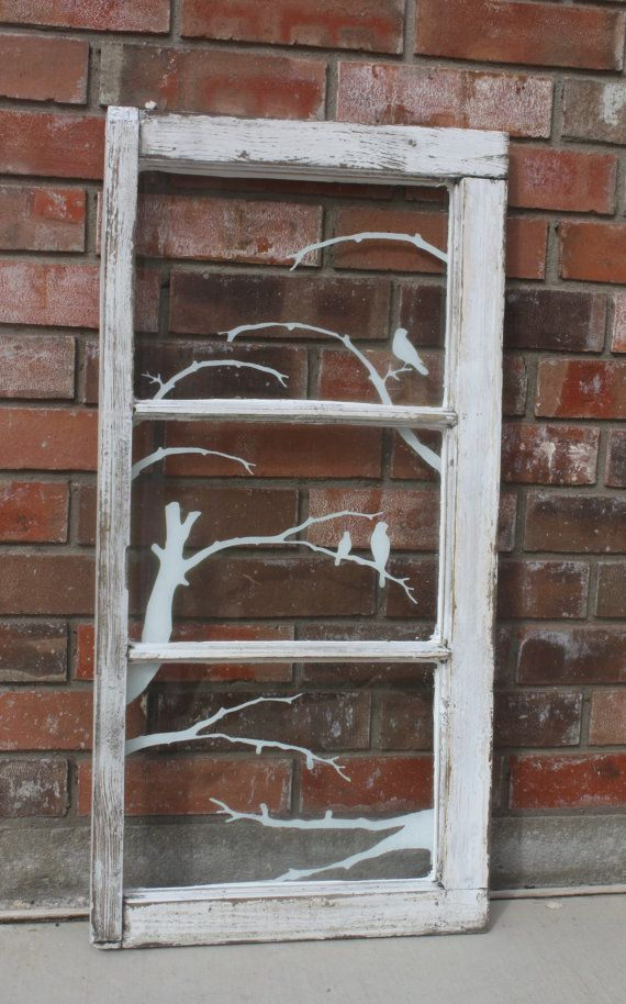 decorative vintage window by fullerscraps on Etsy Home