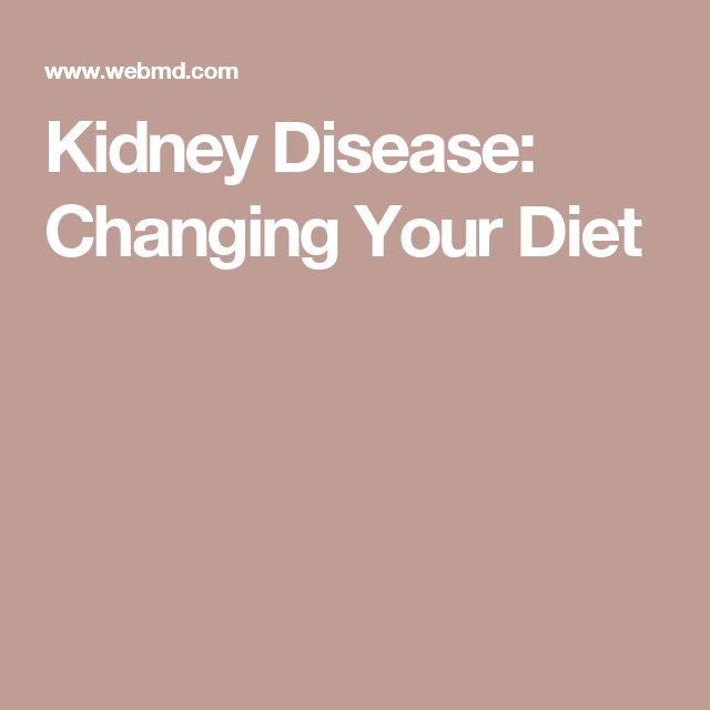 Eating Right for Chronic Kidney Disease