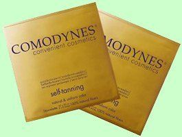 Comodynes Self-Tanning (Sunless Tan) Body Towel by Comodynes. $19.99. Number of towels: 1. Self-Tanning. Emollient. Moisturizing. 100% Natural Viscose. Photoprotection. Individually wrapped Self Tanning towel, not messy creams or sprays in tubes or bottles. If you have used the leading creams on the market today, you will understand why this is our most popular product. Comodynes Sunless Tanning towels are the #1 selling product of their type in Europe. Find out w...
