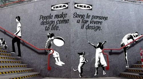 IKEA Follows Banksy and Turns to Graffiti Street Art Photo