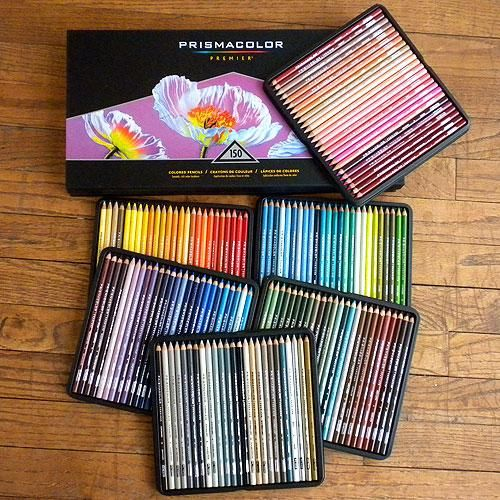 I WANT SO BAD!!!! the opportunities are endless with a set this big! Prismacolor 150 colored pencil set