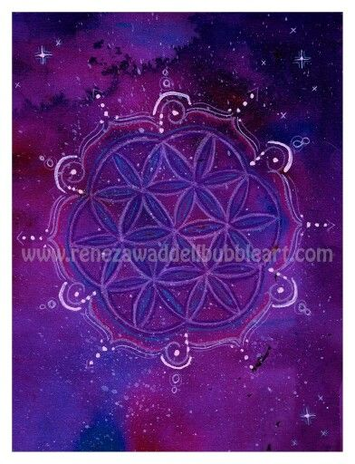 Flower of life series  Cosmic flower  www.renezawaddellbubbleart.com