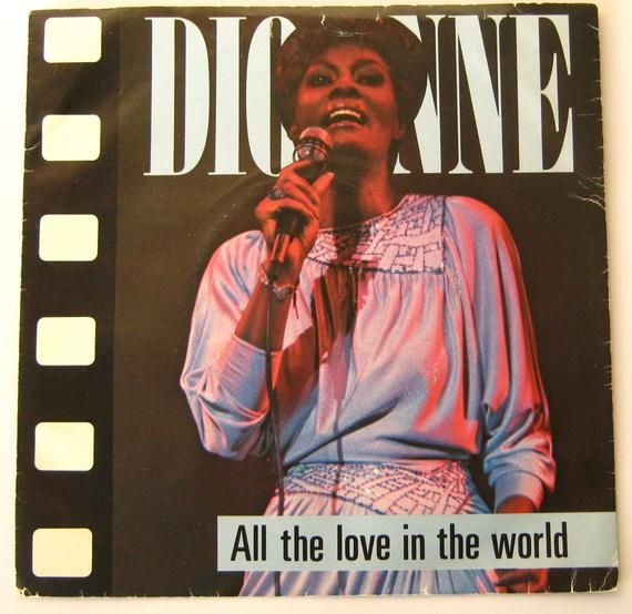 Dionne Warwick All The Love In The World 7 Vinyl Single Record 45 Rpm In Picture Sleeve Gift For Eighties Music Fan Soul Singer Warwicke In 2020 Dionne Warwick Eighties Music Single Record