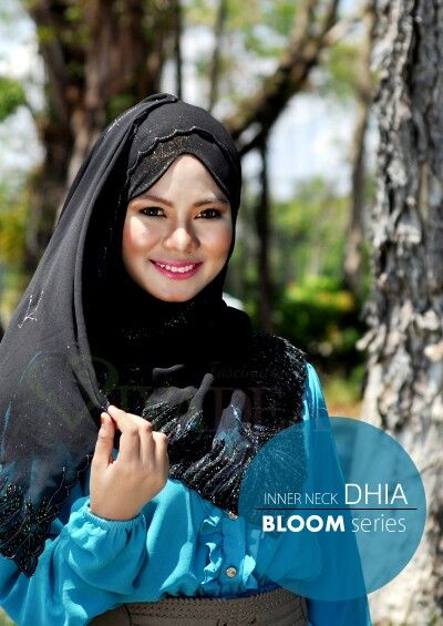 Legend design ever! #innerneckdhia #bloomseries totally awesome!!  You can even wear it for swimming/hiking/extreme activity cause it will keep all your hair inside and tidy appearance  www.vivadea.com  #hijabfashion #hijab2014 #muslimahfashion #hijab