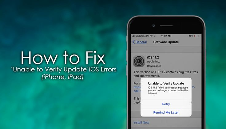 How to Fix 'Unable to Verify Update' Errors on iOS iPhone X,8,7,6. (Stuck on OTA Update iPad)   ✅ #ios #iOS11 +Downloadsource.net