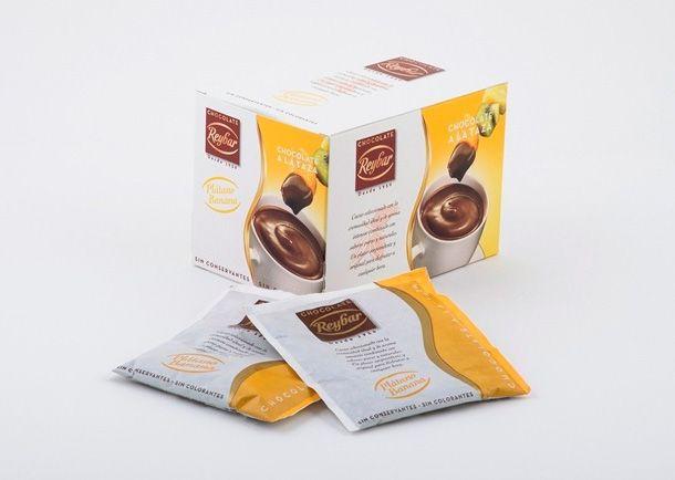 Reybar 30g. Ciocolata calda cu aroma de banana