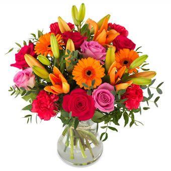 livraison fleurs colorées idée cadeau anniversaire