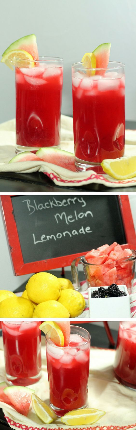 Easy Homemade Lemonade Recipe: all natural blackberry melon lemonade recipe via @heatherlm4