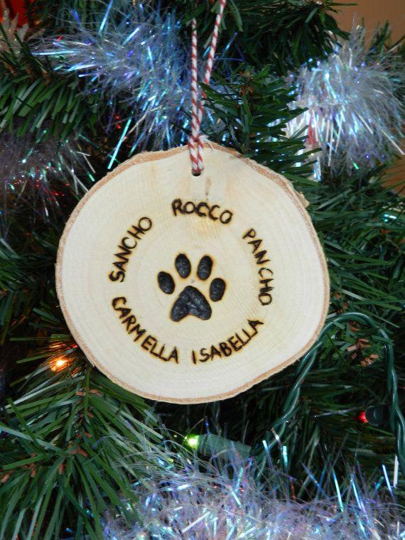 Dog paw ornament Dog paw print ornament Dog pawprint