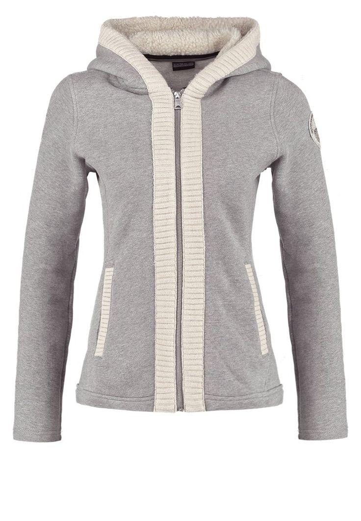 Napapijri BULLER - Felpa con la zip - grey