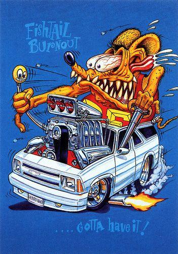 Rat Fink Ed Big Daddy Roth - Fishtail Burnout