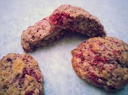 Cookies cocco e lamponi