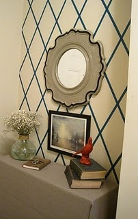 masking tape wall decor