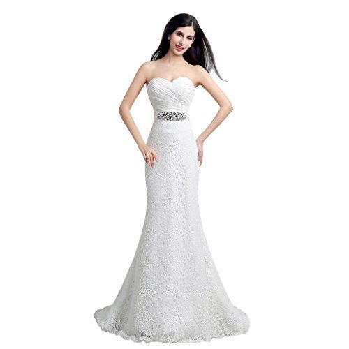 White Cheap Simple Wedding Dresses Mermaid 2017 Sweetheart Lace With Sash Up Bridal Gowns Plus Size Custom Made 11091427
