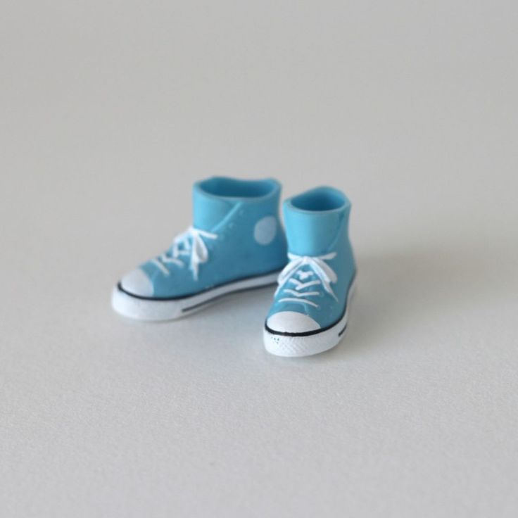 RARE Takara Blythe Doll Stock Shoes - Light Blue Converse Boots Shoes #Takara #ClothingAccessories