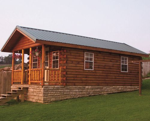 Pre-built log cabins starting at $6k!