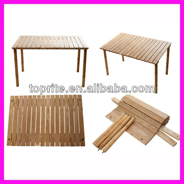 Portable Outdoor Foldable Wooden Table/Collapsible Rolling Table for Picnic/Camping $10~$16