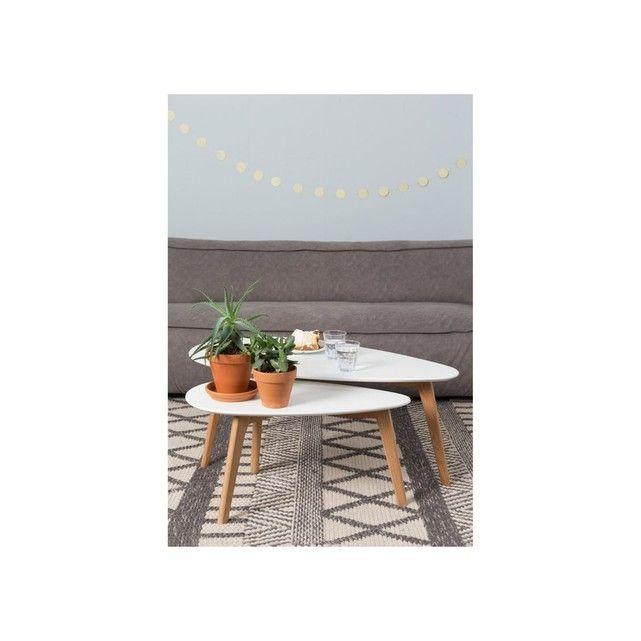 boite a design tables basses scandinave drop set de 2 la redoute - Set De Table Scandinave
