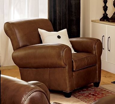 ((Man-Room... The ONLY Recliner Allowed In Our Home)) Manhattan Leather Recliner #potterybarn