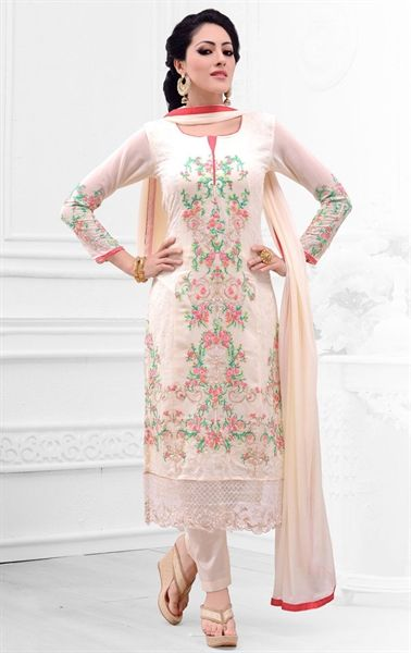 Picture of Aesthetic Cream Traditional Salwar Kameez