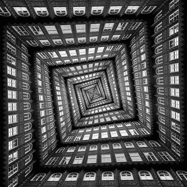 Dizzying Vertigo Inducing Patterns Created With Images Of City Buildings