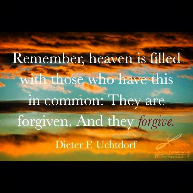 Remember, heaven is filled with those who have this in common. They are forgiven. And they forgive. #Heaven #Forgiven