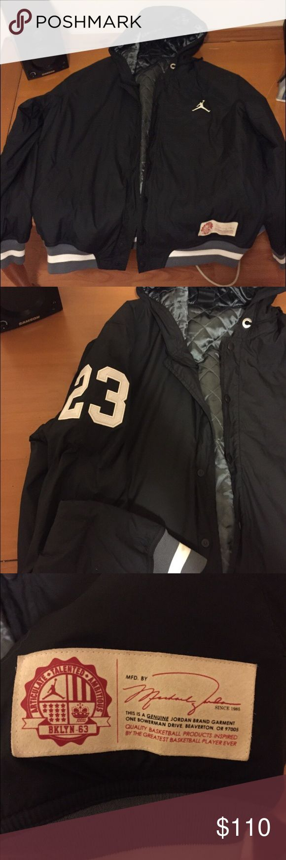 Black Michael Jordan Jacket Like new Jordan jacket only worn a half full of times! Treat very well and is in mint condition! Great gift for all of those Michael Jordan fans! Michael Jordan  Jackets & Coats