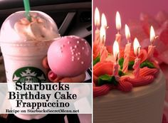 Starbucks Secret Menu Birthday Cake Frappuccino! Recipe here: http://starbuckssecretmenu.net/starbucks-secret-menu-cake-batter-frappuccino/