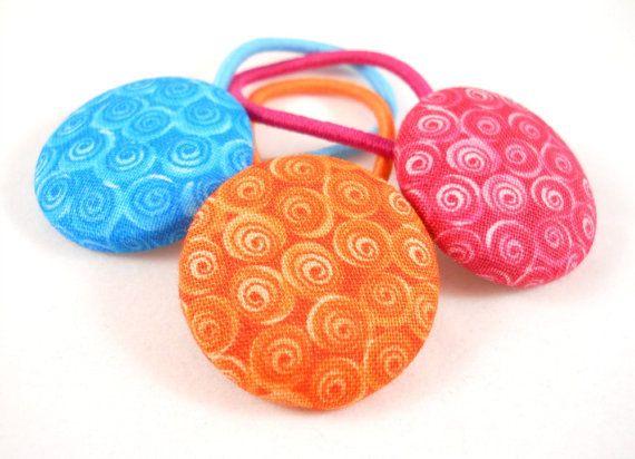 Girls Ponytail Holders Orange Blue Pink Tween by foreverandrea  Hair  Accessories. 25  unique DIY hair accessories for tweens ideas on Pinterest