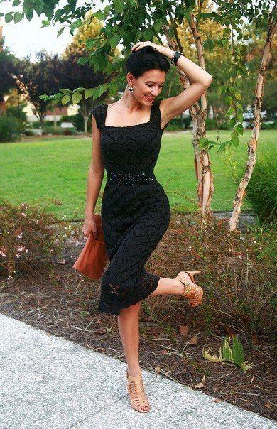 Вечернее платье спицами