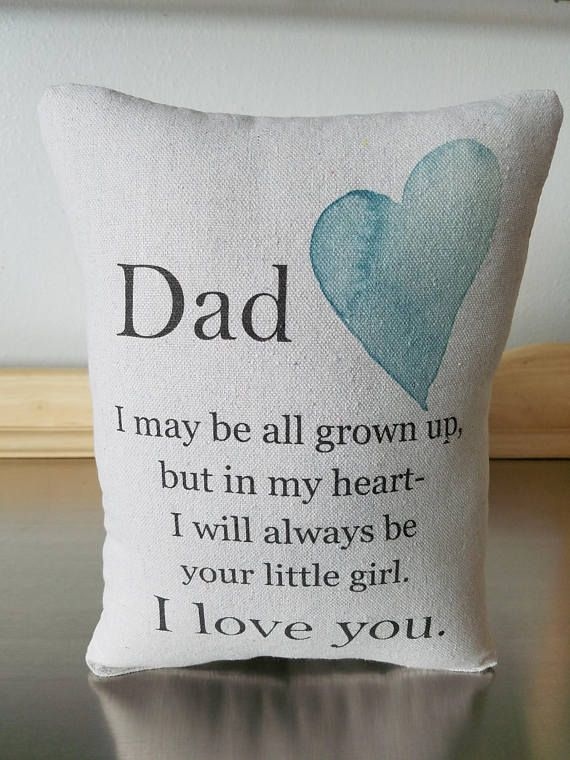 Father Pillow Dad Gift From Daughter Love Quote Pillows Daddys