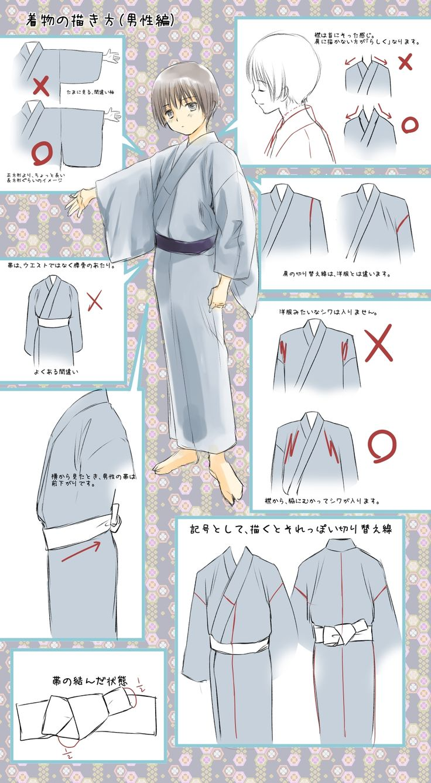 着物の描き方(男性編)・その1