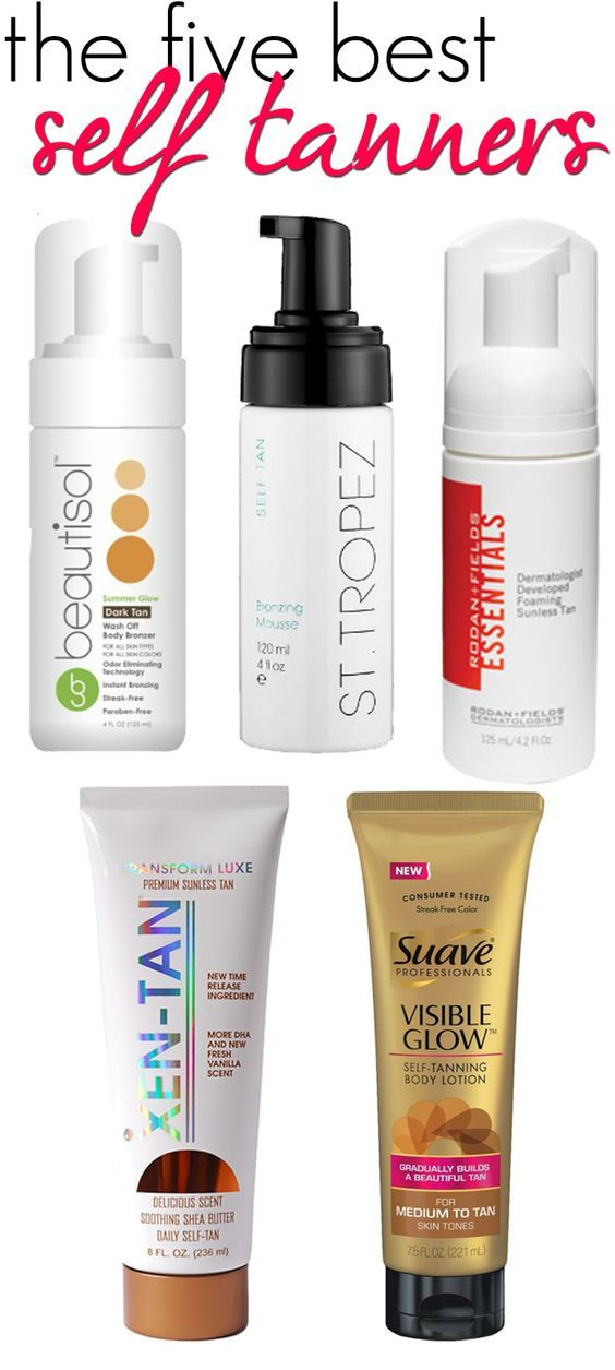 """Rodan + Fields Essentials Foaming Sunless Tanner made the """"5 Best Self Tanners"""" list in the Hairspray & Highheels blog! Non-streaky, no scent, mess free and very natural looking! Message ME! https://suziepittman.myrandf.com/Shop/Product/ESST125"""