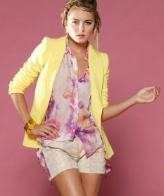 Honey and Beau prepare for impact yellow blazer jacket $129 | threadsandstyle.com.au