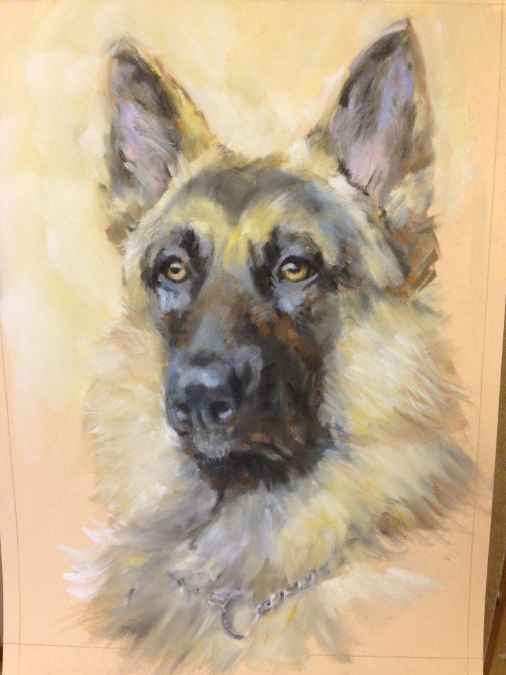 Step By Step German Shepherd Paint Draw Blend