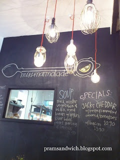 Miss Marmalade, Brunswick | Pramsandwich. A back room full of kids toys and a change table! Need a say more... Oh and a delicious menu.